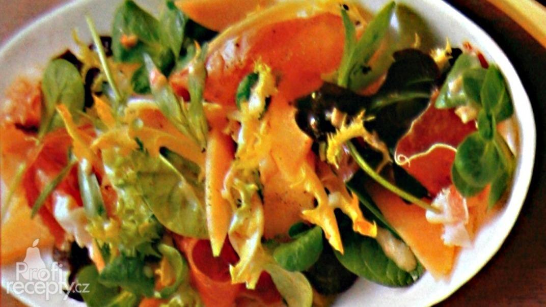 Listový salát všech druhů s estragonem a melounem