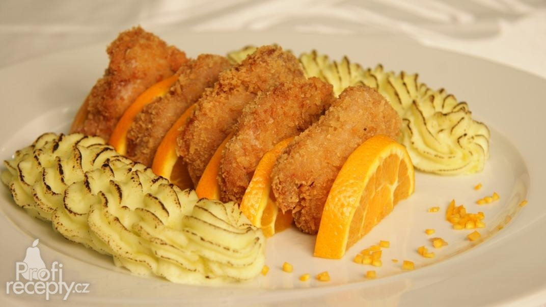 Vepřové řízečky s wasabi kaší