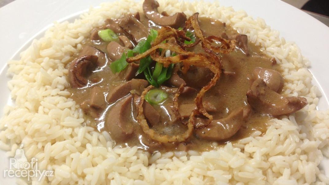 Vepřové ledvinky s rýží