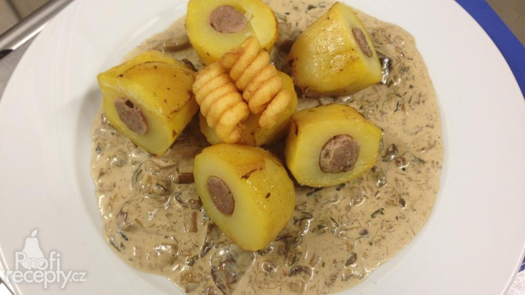 Pečené plněné brambory mletým masem