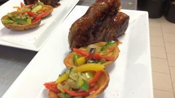 Kančí T-bon steak v glaze Jalapenos