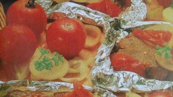 Hovězí maso se zeleninou v alobalu
