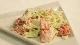 Rajčatový salát v majonéze