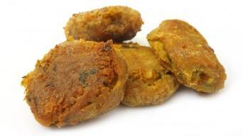 Arabský smažený falafel s cizrny a fazolí