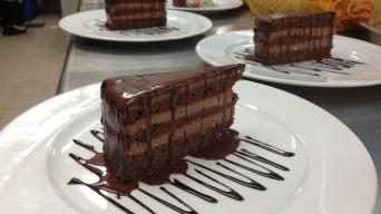 Čokoládovo lanýžový dort